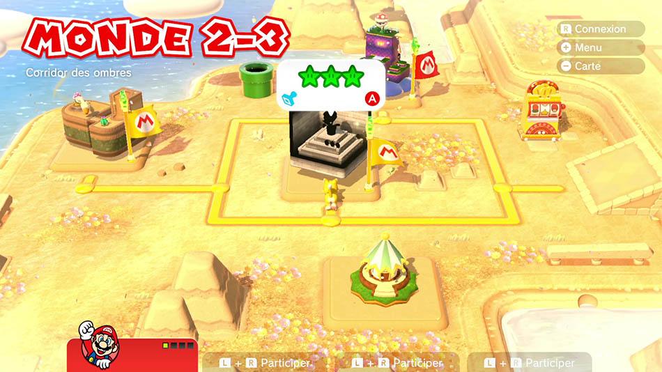 Soluce du Monde 2-3 : Corridor des ombres de Super Mario 3D World