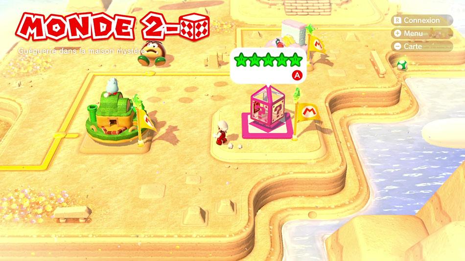 Soluce du Monde 2-Boîte Mystère : Guéguerre dans la maison mystère dans Super Mario 3D World
