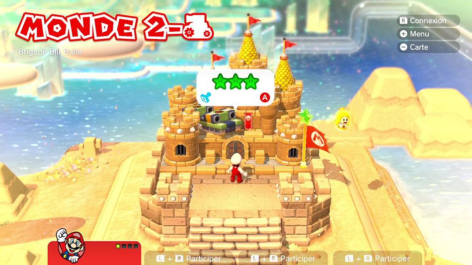 Soluce du Monde 2-Château : Brigade Bill Balle de Super Mario 3D World