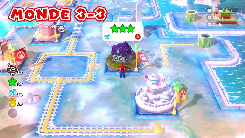 Soluce du Monde 3-3 : Manoir hanté et mouvementé de Super Mario 3D World