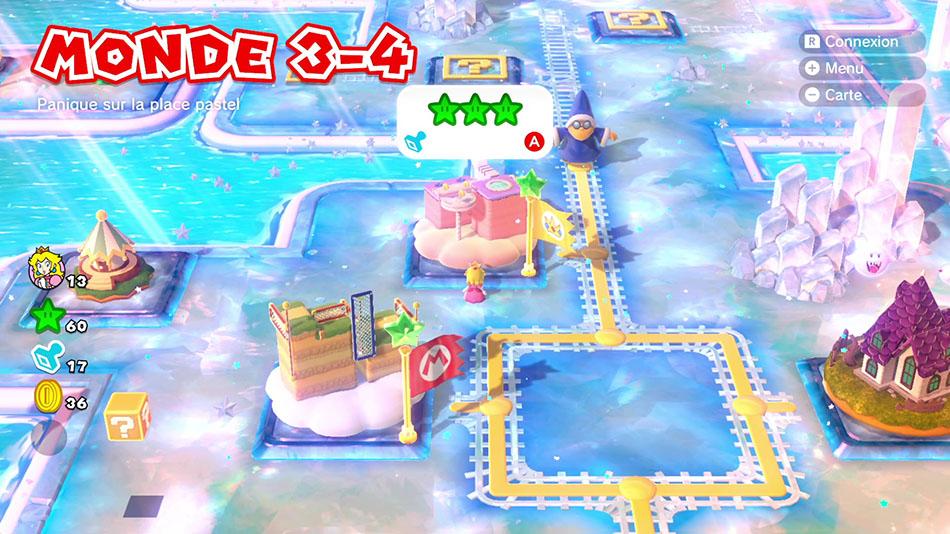 Soluce du Monde 3-4 : Panique sur la place pastel de Super Mario 3D World
