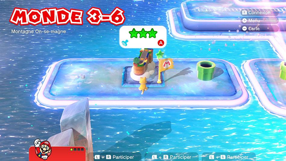 Soluce du Monde 3-6 : Montagne On-se-magne de Super Mario 3D World