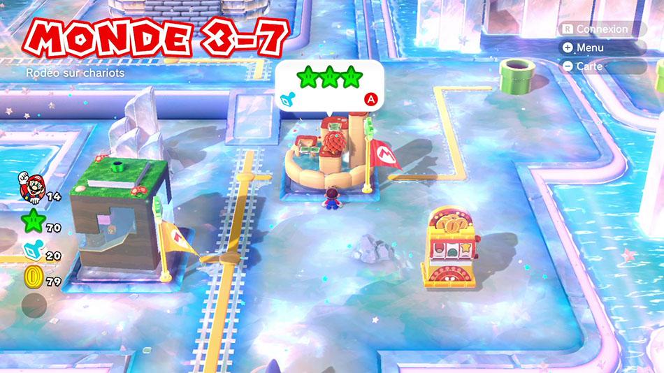 Soluce du Monde 3-7 : Rodéo sur chariots de Super Mario 3D World