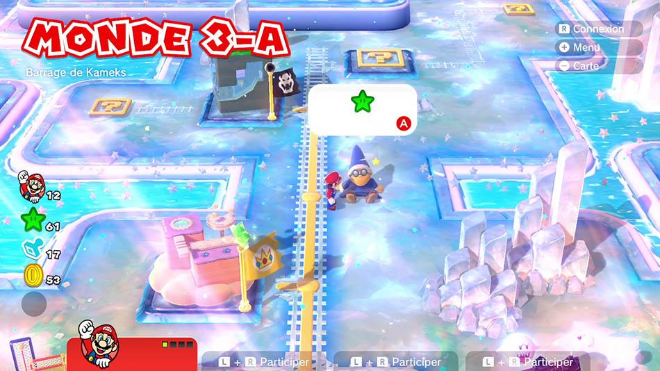 Soluce du Monde 3-A : Barrage de Kameks de Super Mario 3D World