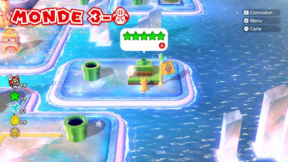 Soluce du Monde 3-Toad : Le capitaine Toad se jette à l'eau de Super Mario 3D World