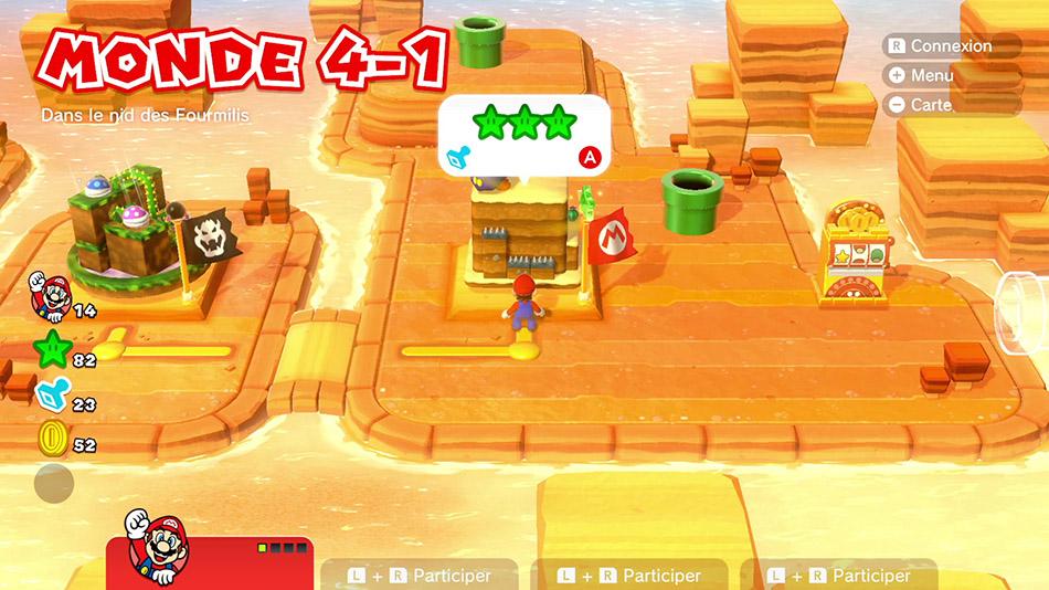 Soluce du Monde 4-1 : Dans le nid des Fourmili de Super Mario 3D World