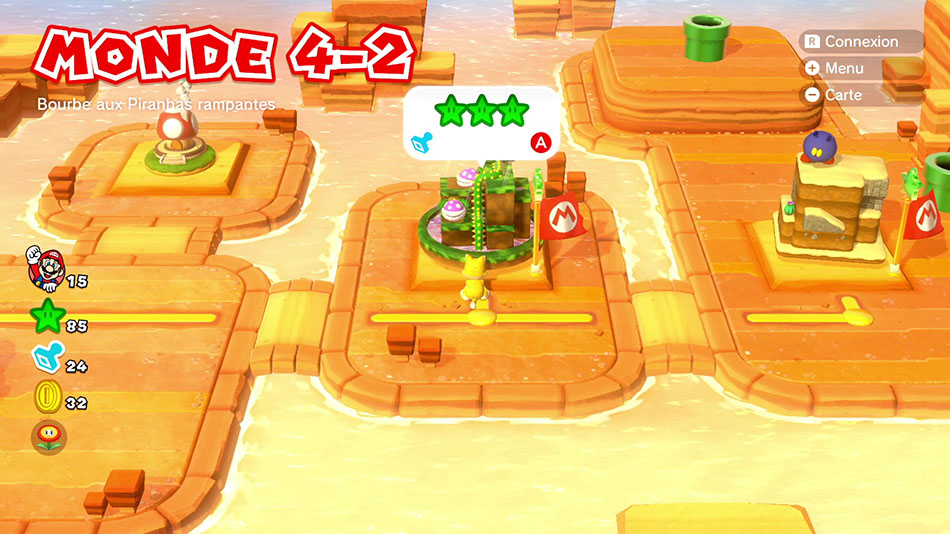 Soluce du Monde 4-2 : Bourbe aux Piranhas rampantes de Super Mario 3D World