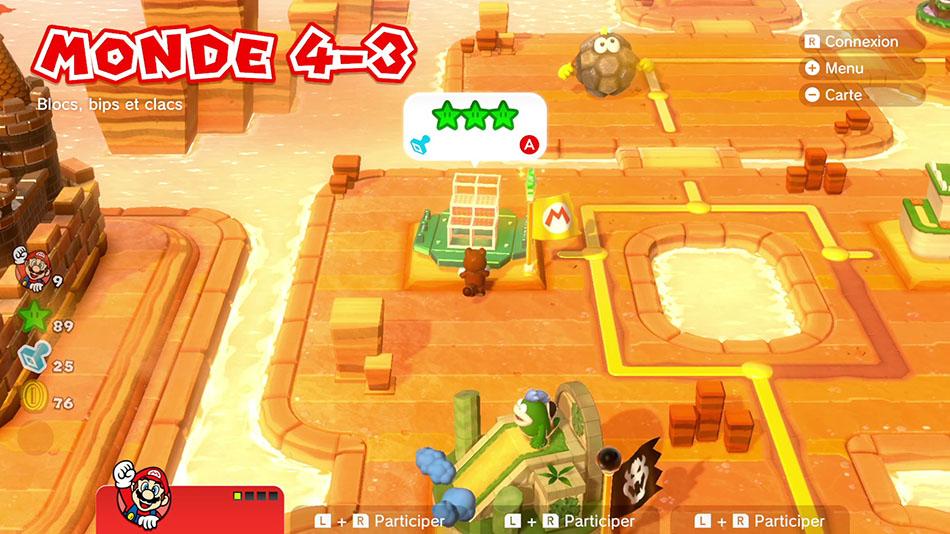 Soluce du Monde 4-3 : Blocs, bips et clacs de Super Mario 3D World