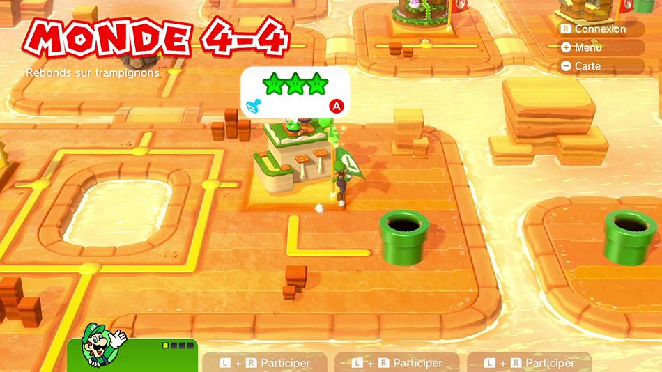 Soluce du Monde 4-4 : Rebonds sur trampignons de Super Mario 3D World