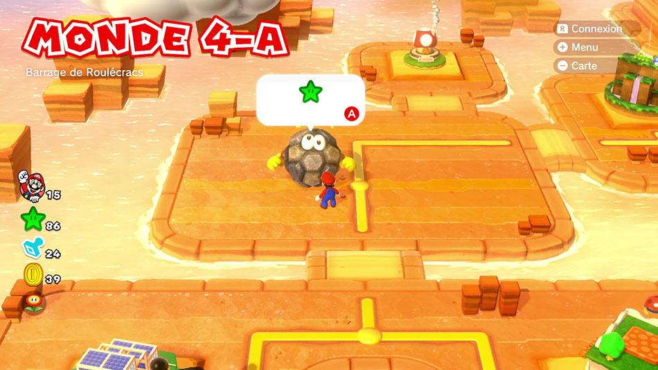 Soluce du Monde 4-A : Barrage de Roulécracs de Super Mario 3D World