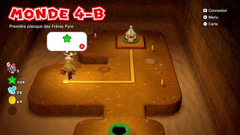 Soluce du Monde 4-B : Première planque des Frères Pyro de Super Mario 3D World