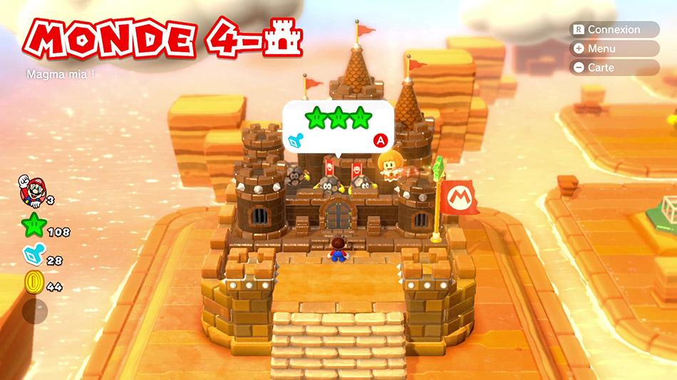 Soluce du Monde 4-Château : Magma mia ! de Super Mario 3D World