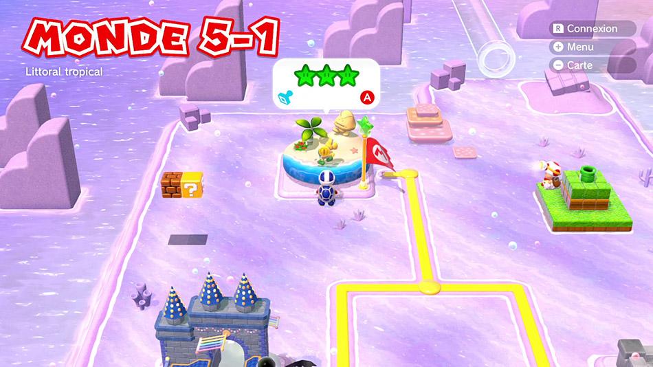 Soluce du Monde 5-1 : Littoral tropical de Super Mario 3D World