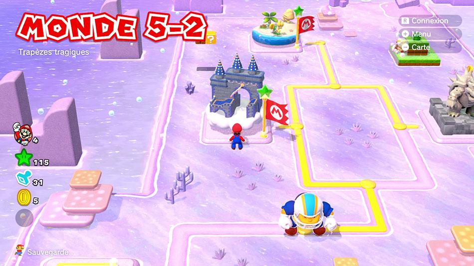 Soluce du Monde 5-2 : Trapèzes tragiques de Super Mario 3D World