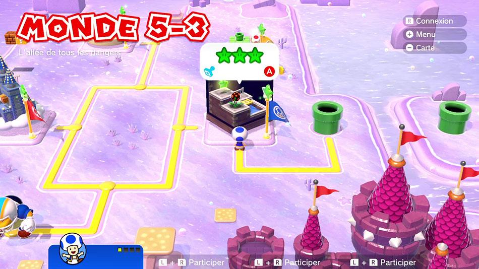 Soluce du Monde 5-3 : L'allée de tous les dangers de Super Mario 3D World