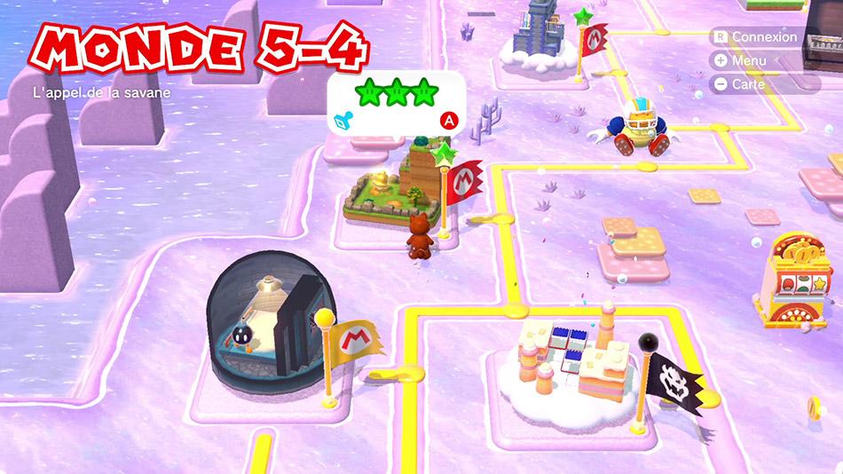 Soluce du Monde 5-4 : L'appel de la savane de Super Mario 3D World