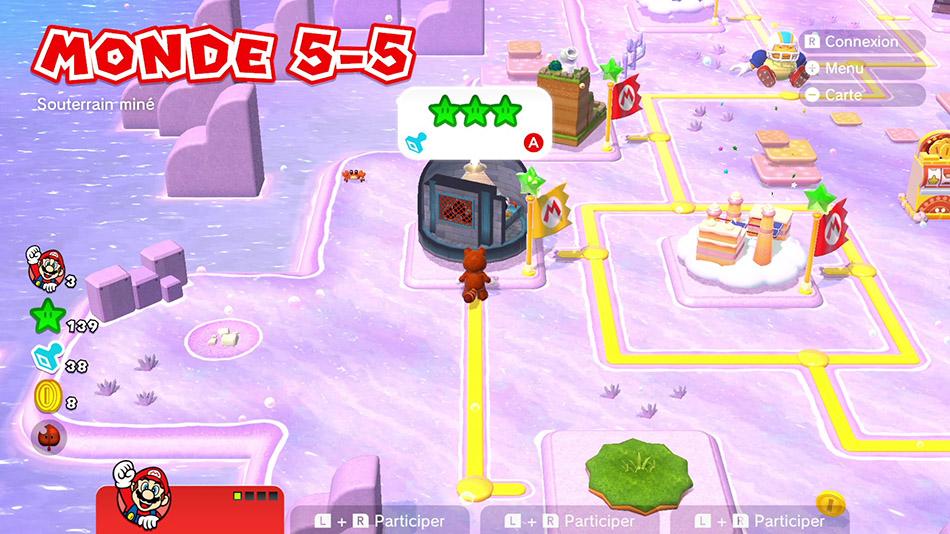 Soluce du Monde 5-5 : Souterrain miné de Super Mario 3D World