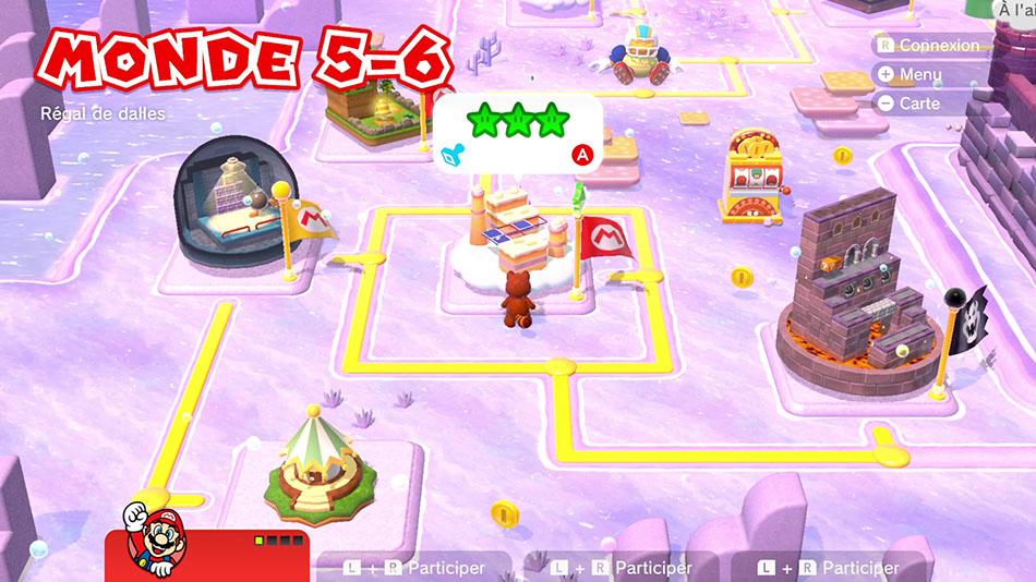 Soluce du Monde 5-6 : Régal de dalles de Super Mario 3D World