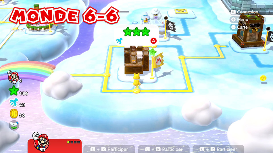 Soluce du Monde 6-5 : Bastion Bill Balle de Super Mario 3D World