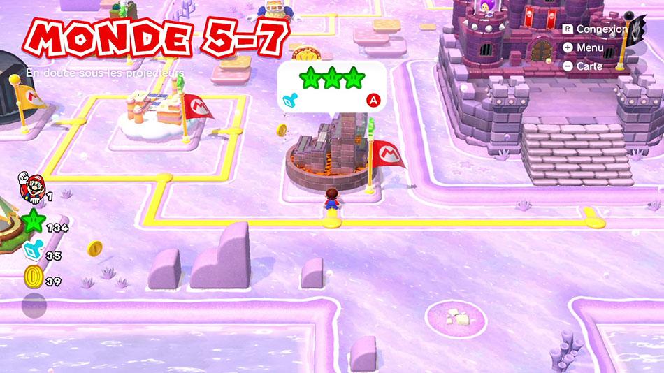 Soluce du Monde 5-7 : En douce sous les projecteurs de Super Mario 3D World