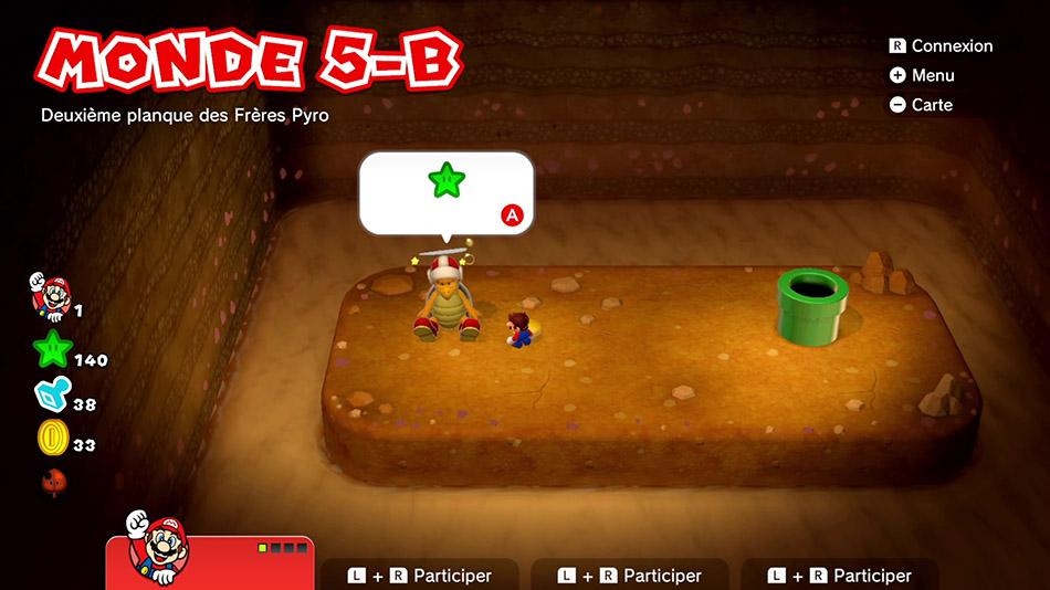 Soluce du Monde 5-B : Deuxième planque des Frères Pyro de Super Mario 3D World