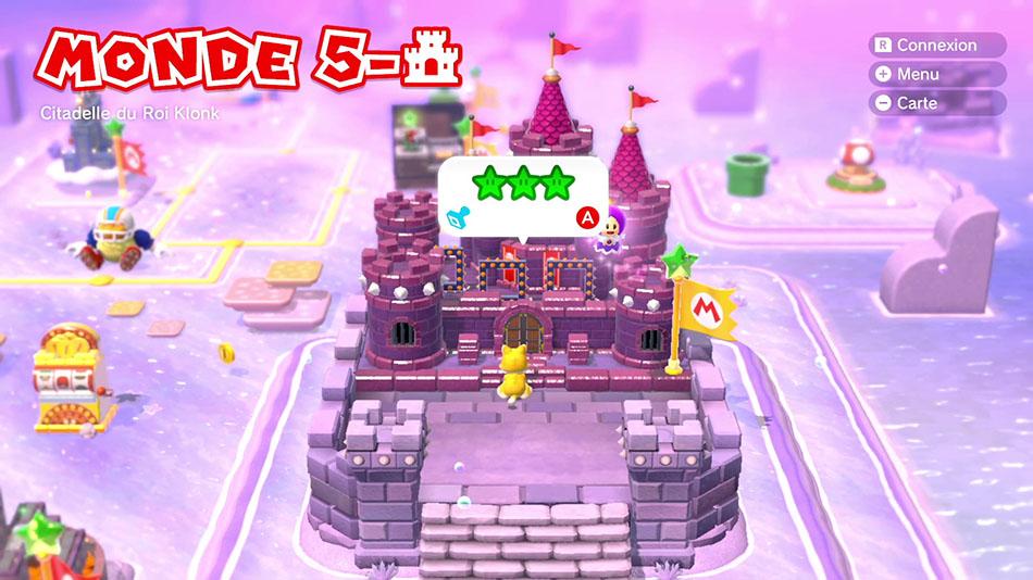 Soluce du Monde 5-Château : Citadelle du Roi Klonk de Super Mario 3D World