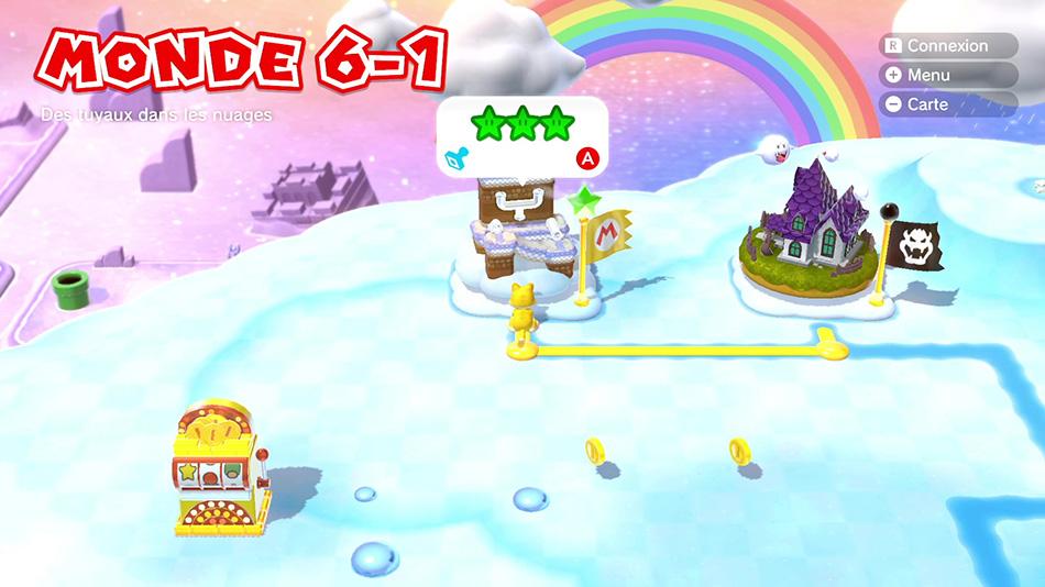 Soluce du Monde 6-1 : Des tuyaux dans les nuages de Super Mario 3D World