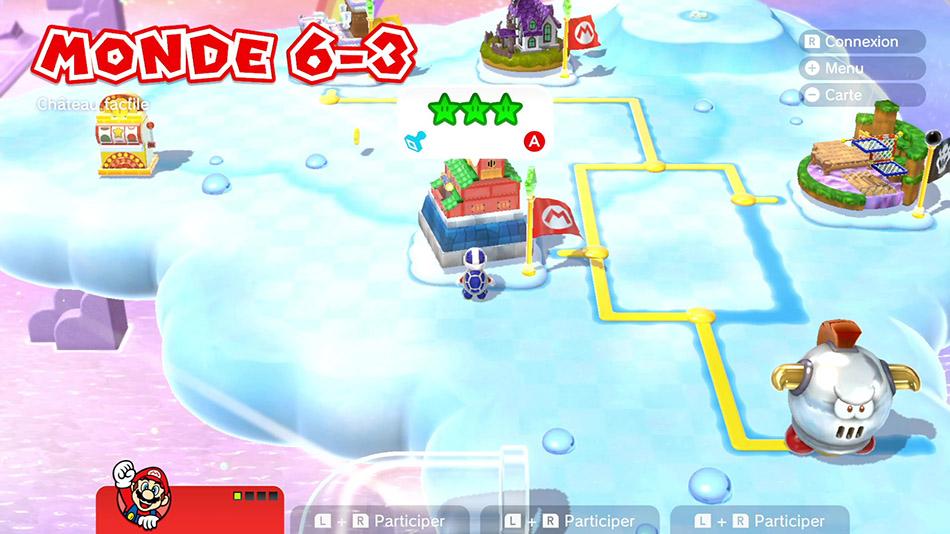 Soluce du Monde 6-3 : Château tactile de Super Mario 3D World
