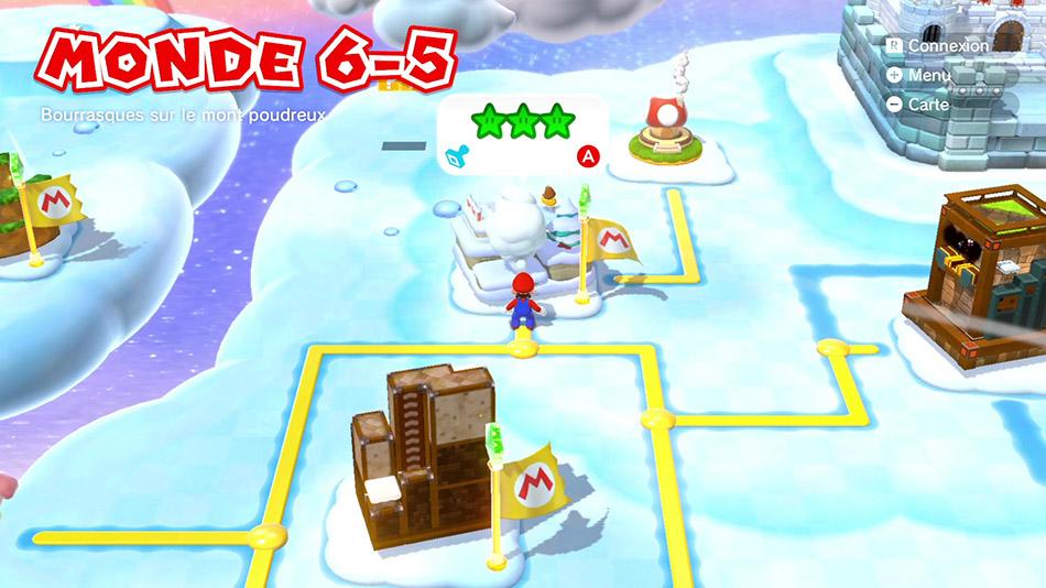 Soluce du Monde 6-5 : Bourrasques sur le mont poudreux de Super Mario 3D World