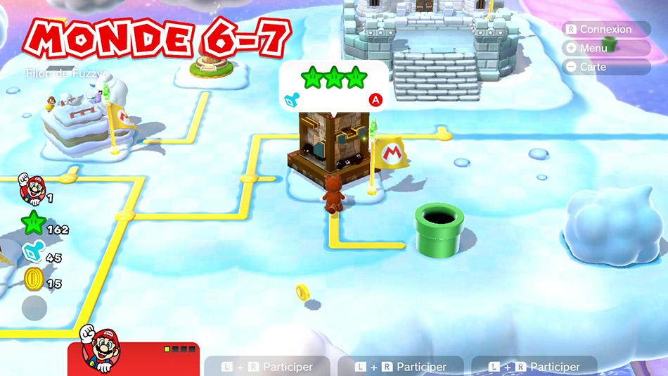 Soluce du Monde 6-7 : Filon de Fuzzy de Super Mario 3D World