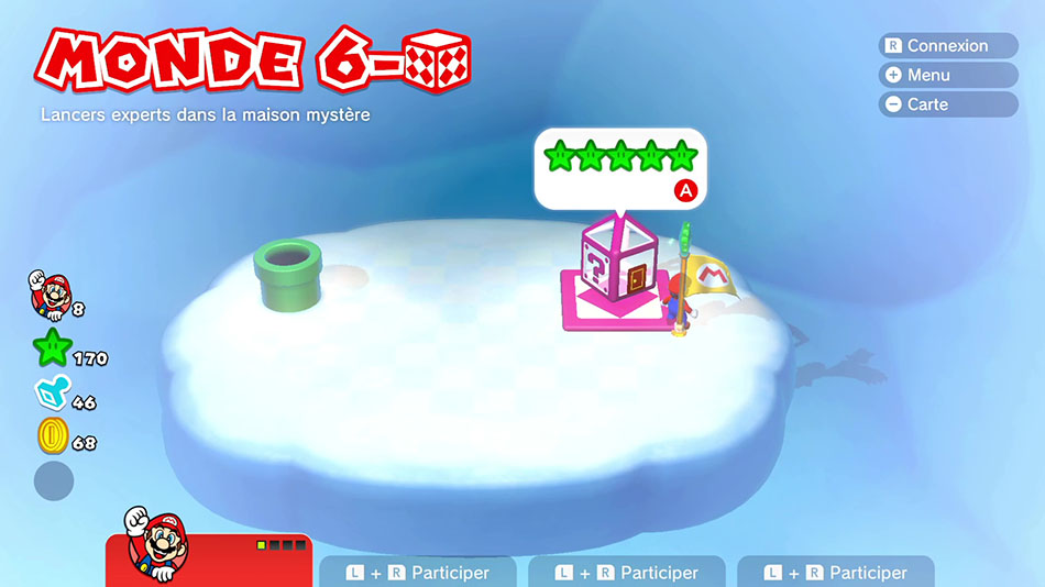 Soluce du Monde 6-Boîte Mystère : Lancers experts dans la maison mystère de Super Mario 3D World