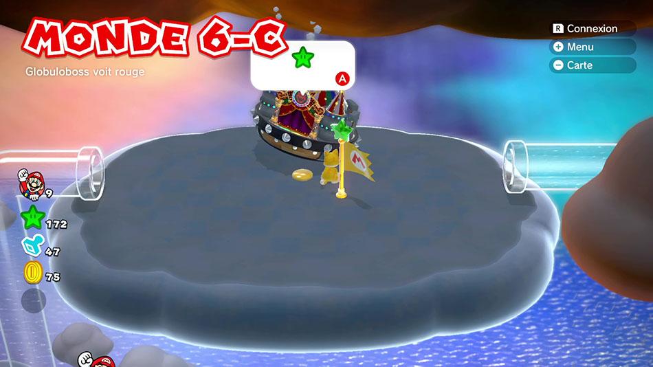 Monde 6-C : Globuloboss voit rouge de Super Mario 3D World