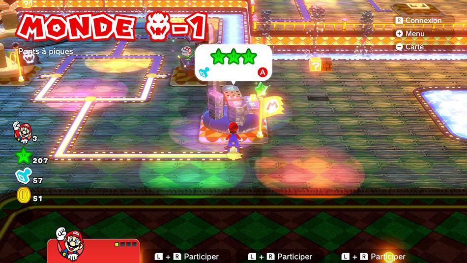 Soluce du Monde Bowser-1 : Ponts à piques de Super Mario 3D World