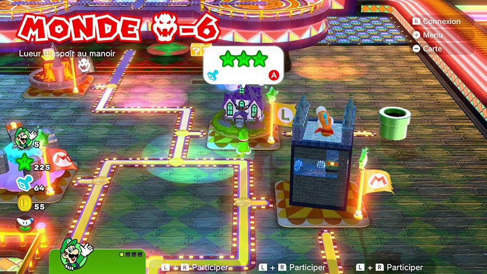 Soluce du Monde Bowser-6 : Lueur d'espoir au manoir dans Super Mario 3D World