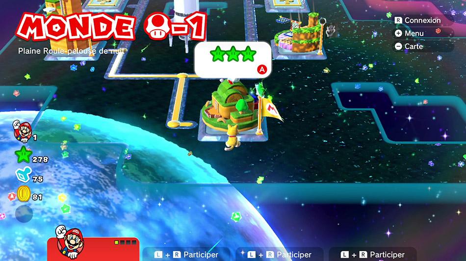 Soluce du Monde Champignon-1 : Plaine Roule-pelouse de nuit de Super Mario 3D World