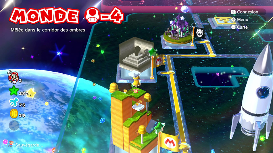 Soluce du Monde Champignon-4 : Mêlée dans le corridor des ombres de Super Mario 3D World