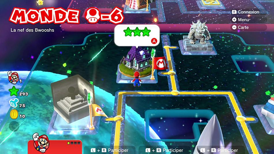 Soluce du Monde Champignon-6 : La nef des Bwoosh de Super Mario 3D World