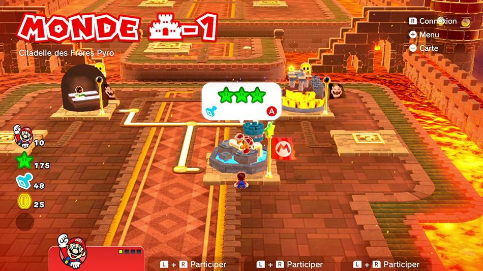 Soluce du Monde Château-1 : Citadelle des Frères Pyro de Super Mario 3D World