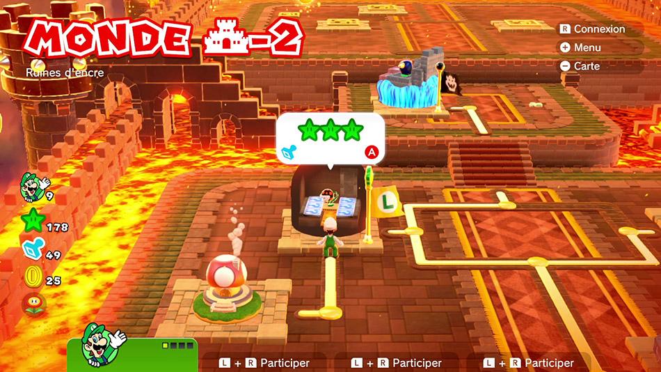 Soluce du Monde Château-2 : Ruines d'encre de Super Mario 3D World