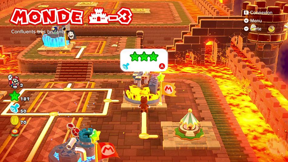 Soluce du Monde Château-3 : Confluents très brûlants de Super Mario 3D World