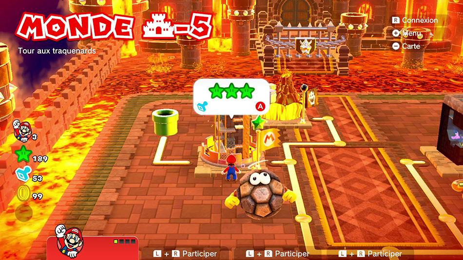 Soluce du Monde Château-5 : Tour aux traquenards de Super Mario 3D World