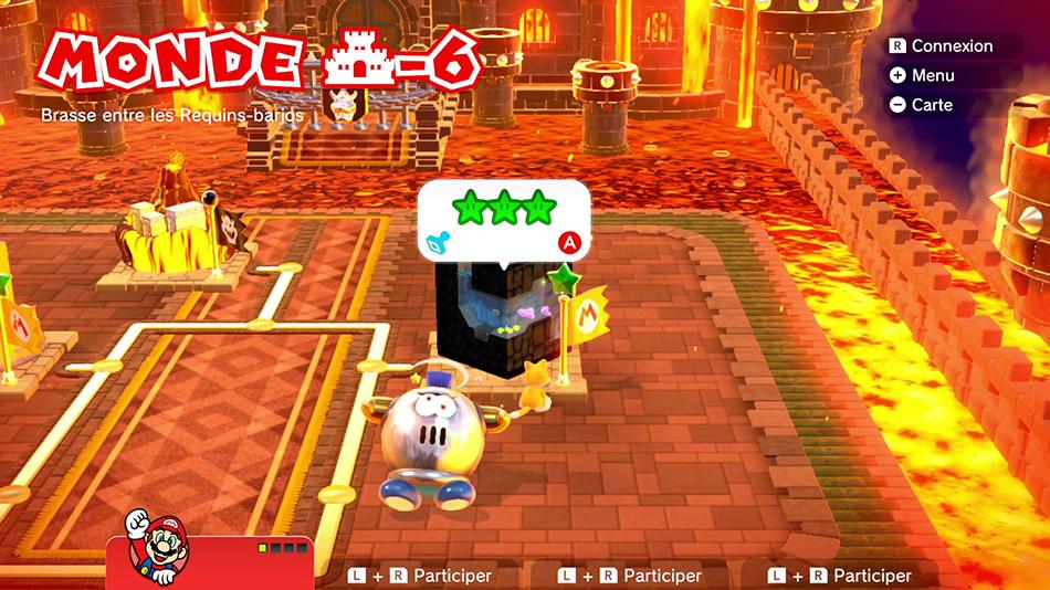 Soluce du Monde Château-6 : Brasse entre les Requins-barjos de Super Mario 3D World
