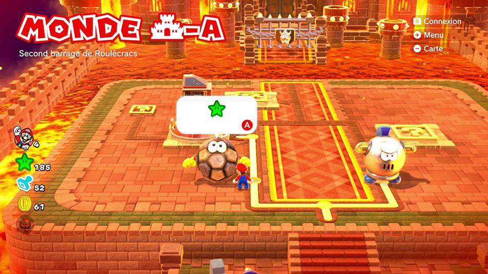 Soluce du Monde Château-A : Second barrage de Roulécrac de Super Mario 3D World