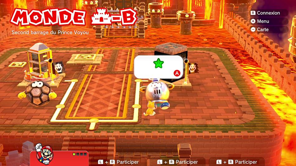 Soluce du Monde Château-B : Second barrage du Prince Voyou de Super Mario 3D World