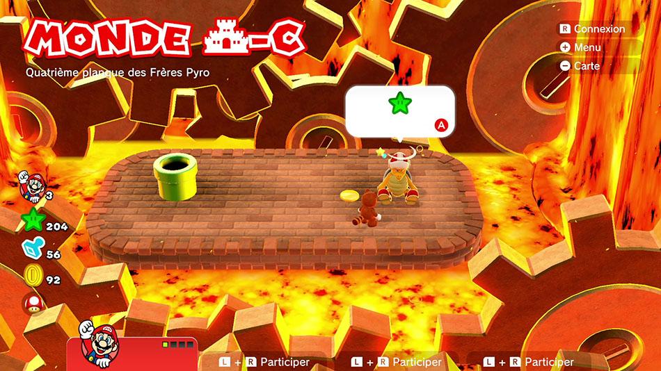 Soluce du Monde Château-C : Quatrième planque des Frères Pyro de Super Mario 3D World