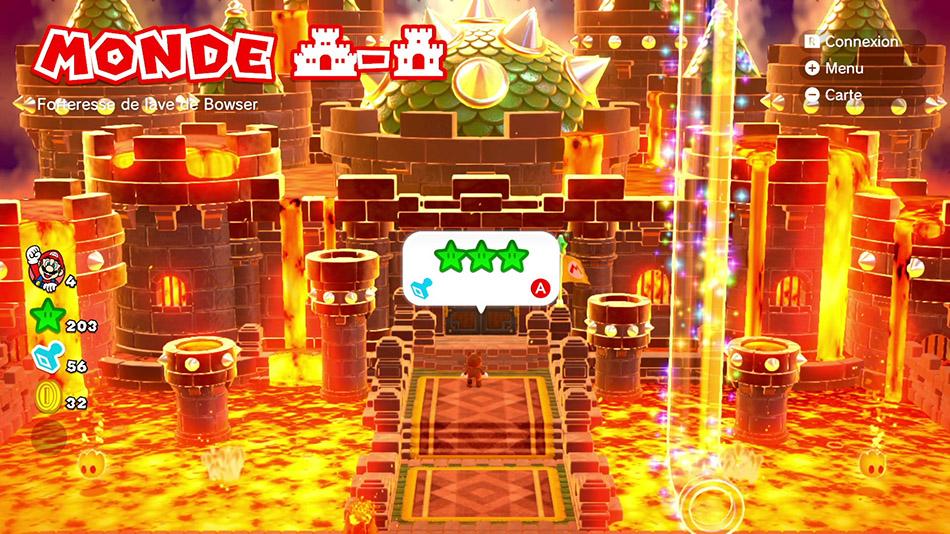 Soluce du Monde Château-Château : Forteresse de lave de Bowser de Super Mario 3D World