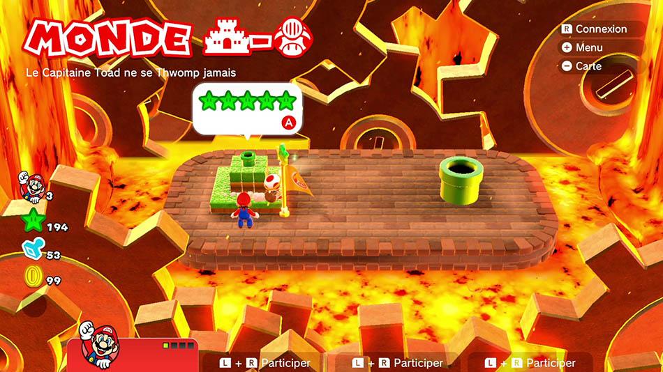 Soluce du Monde Château-Toad : Le capitaine Toad ne se Thwomp jamais de Super Mario 3D World