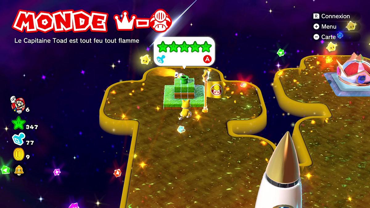 Soluce du Monde Couronne - Toad : Le capitaine Toad est tout feu tout flamme de Super Mario 3D World