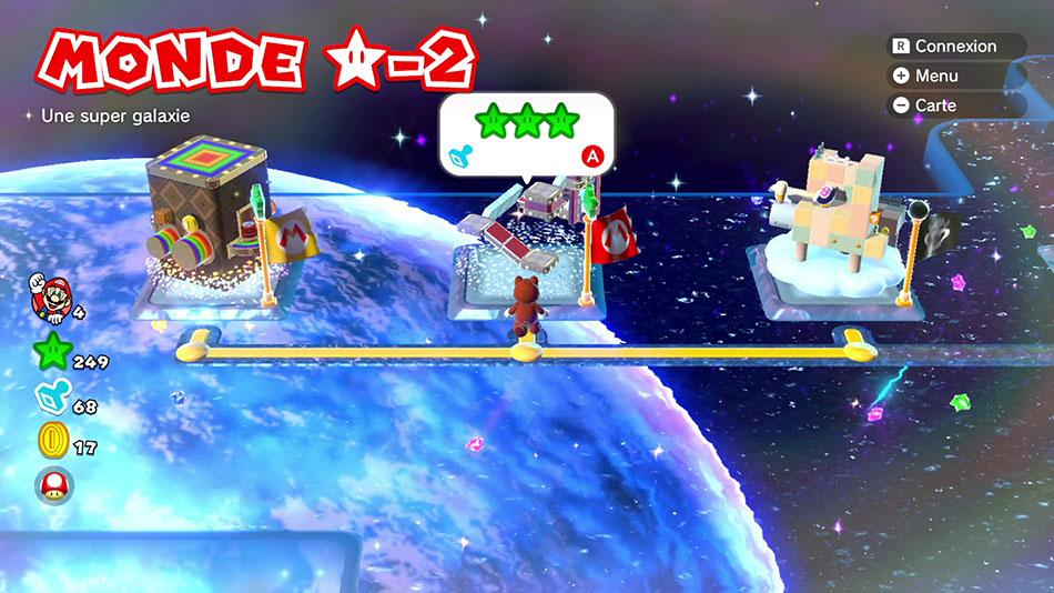 Soluce du Monde Étoile-2 : Une super galaxie de Super Mario 3D World