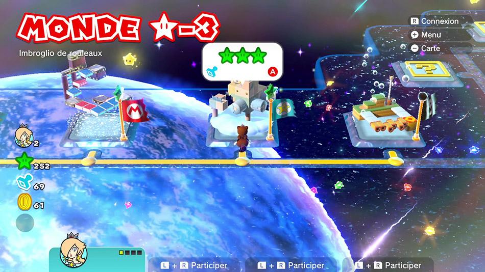 Soluce du Monde Étoile-3 : Imbroglio de rouleaux de Super Mario 3D World